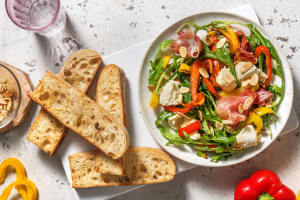 Roasted Pepper, Mozzarella and Serrano Ham Salad image