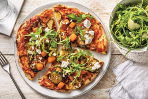 Roasted Pumpkin & Crumbly Cheese Pizza image