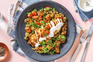 Roasted Shawarma Chicken and Squash Freekeh image
