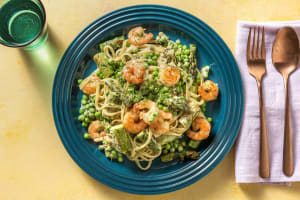 Roasted Shrimp and Asparagus Linguine image