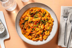 Roasted Sweet Potato and Ginger Garlic Chicken Stew image