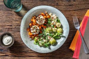 Rosenkohl-Apfel-Salat mit Ziegenkäsetalern image