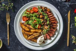Rumsteak sauce chimichurri & pommes de terre rissolées image