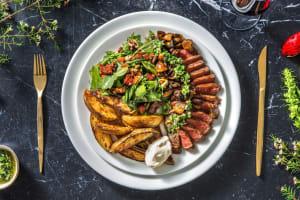 Rumsteak et sauce chimichurri image