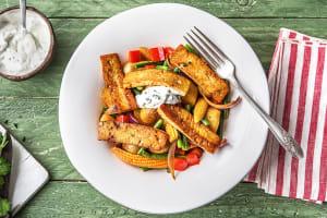 Rustikale Tofu-Gemüse-Pfanne image
