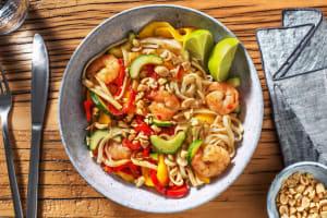 Salade asiatique aux crevettes sautées et à la mangue image