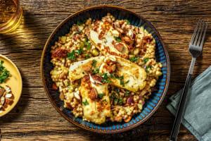 Salade de couscous perlé, halloumi grillé & persil image