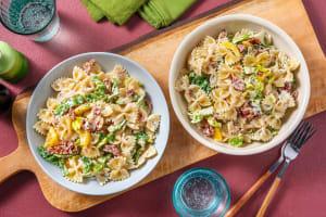 Salade de farfalle au lard & sauce ciboulette image