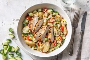 Salade de grenailles & poulet aux herbes image