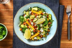 Salade de pois chiches rôtis, avocat, feta & coriandre image