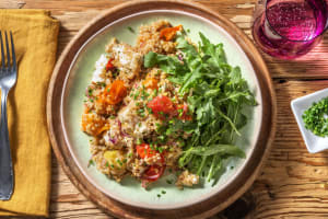 Salade de tomates confites et feta rôtie à l'origan image