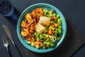 Griekse salade met gebakken feta image