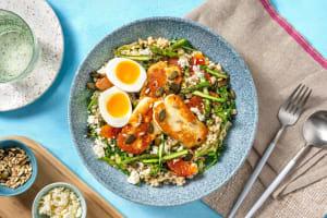Salade printanière aux asperges & halloumi grillé image