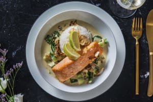 Salmon Thai-Style Green Curry image