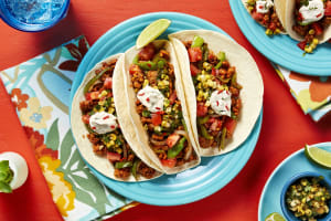 Pork And Charred Corn Chimichurri Tacos image