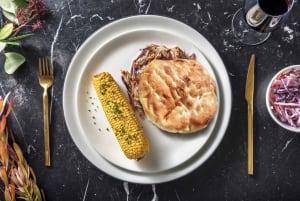 Sandwich à l'effiloché de poulet & oignons confits image