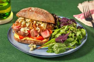 Steak sandwich met gepofte paprika image