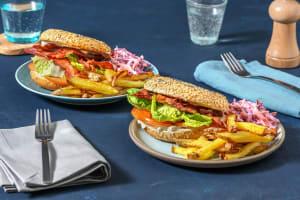 Sandwich façon BLT (bacon, lettuce, tomato) image