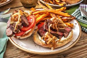 Open-Faced Steak Sandwich image