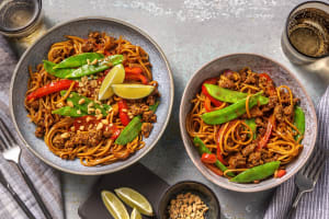 Satay Style Beef Mince and Noodles image