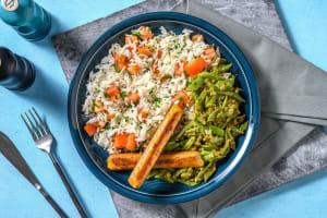 Kipworstjes met kruidige rijst image