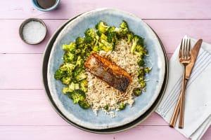 Saumon à l'asiatique & brocoli rôti image