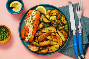 Carb Smart Creamy Chive Salmon image