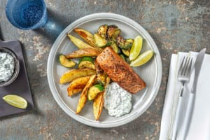 Pan-Seared Greek Salmon image