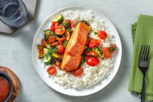 Honey-Sriracha Roasted Salmon image