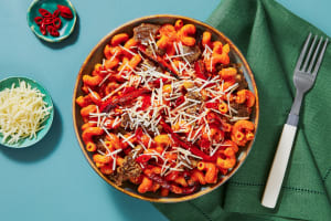 Sausage and Roasted Bell Pepper Pasta image