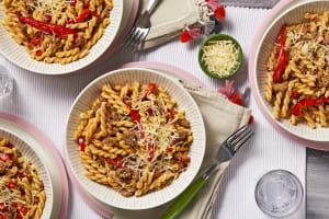 Sausage and Roasted Red Pepper Pasta image