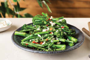 Sauteed Garlic Broccolini & Green Beans image