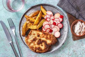 Schnitzel mit Ofenkartoffeln image