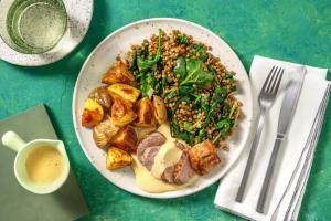 Schweinefilet mit Linsen-Spinat-Gemüse image