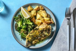Sea Bream in a Lemon Garlic and Chive Butter Sauce image