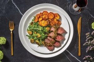 Seared Fillet Steak & Pesto Butter Sauce image