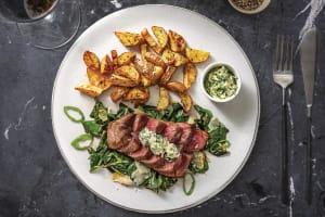 Seared Sirloin & Truffle Potatoes image