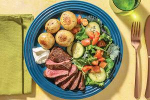 Seared Steak & Garlic Butter Potatoes with Truffle Mayo image