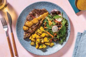 Seared Steak & Mumbai Coconut Sauce image