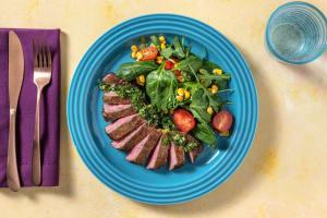 Seared Steaks and Gremolata image