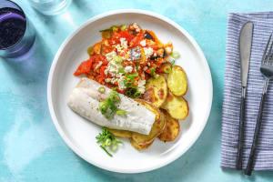 Seehecht mit Tomaten-Auberginen-Gemüse image