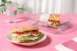 Serrano Ham & Mozzarella Roll with Fig Jam and Rocket image