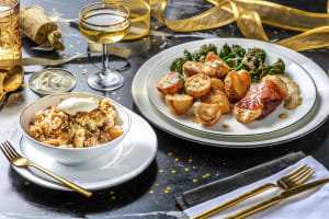 Serrano Ham Wrapped Chicken and Roast Potatoes image