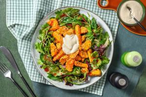 Sesam-Süßkartoffel mit Hummus-Dip image