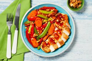 Sesame Chili Pork Chops & Veggie Stir-Fry image