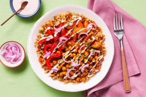 Shawarma Chickpea Couscous Bowls image