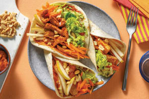 Easy Sichuan Garlic Pork Tacos image