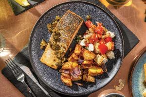 Sicilian-Style Salmon & Herby Caper Sauce image