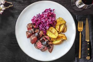 Sirloin Steak and Rosemary Wedges image
