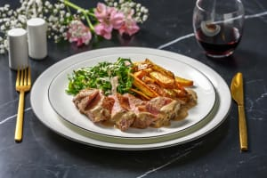 Sirloin Steak and Creamy Tarragon Sauce image